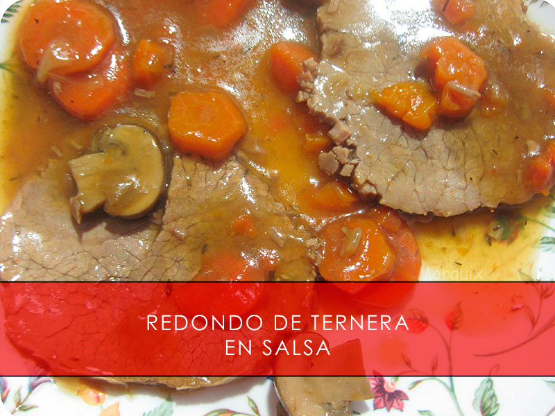 Receta de redondo en salsa