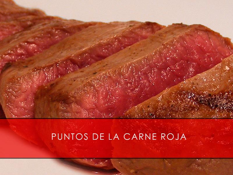 puntos de la carne roja