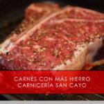 carnes con más hierro