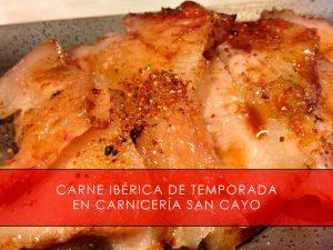 carne ibérica de temporada en San Cayo