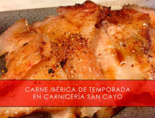 Carne ibérica de temporada en Carnicería San Cayo