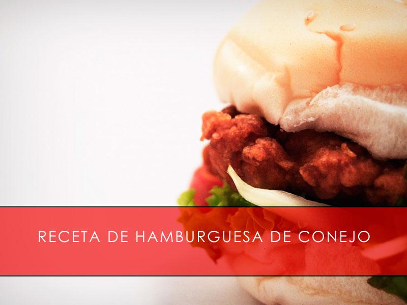 receta de hamburguesa de conejo