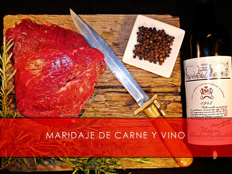 Maridaje de carne y vino - Carnicería San Cayo