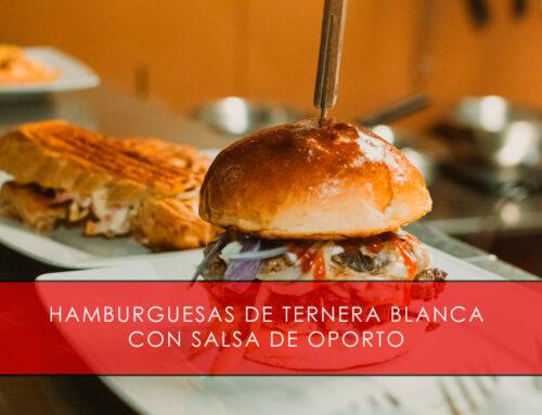 Hamburguesas de ternera blanca con salsa de Oporto