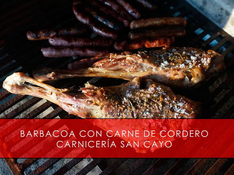 Barbacoa con carne de cordero - Carnicería San Cayo