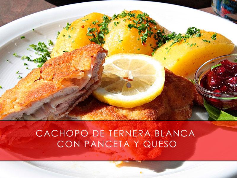 Cachopo de ternera blanca con panceta y queso - Carnicería San Cayo